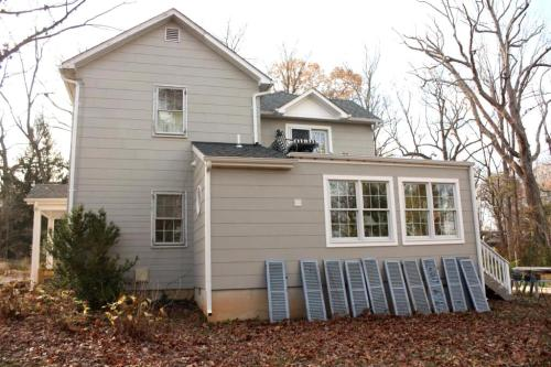 We'll be putting the shutters away for winter and start working on them in spring.