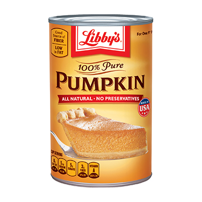 Doesn't pumpkin come in a can?