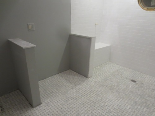 The master bath is a big room.