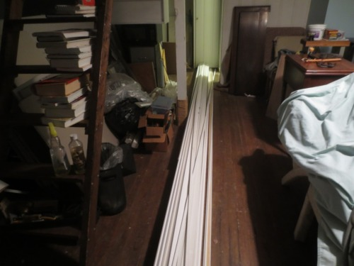 The pile of trim is resting comfortably in the Cottage along with lots of other future projects.