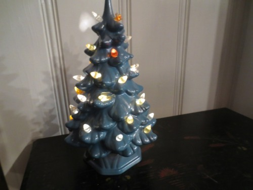 I painted this small ceramic Christmas tree a few years ago.