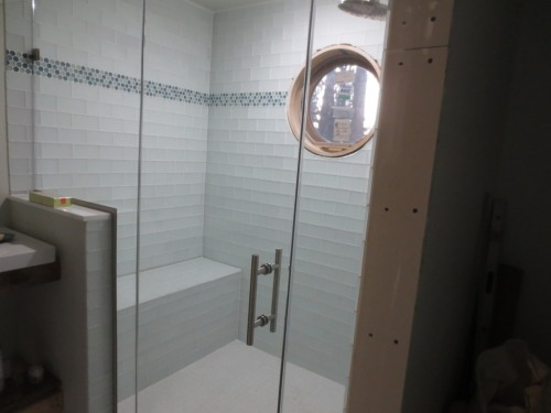 "The shower door handle is called the ""counterpoint"" style."
