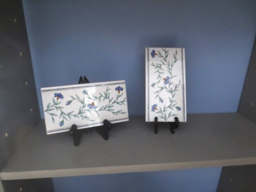 We carried these 2 Italian tiles back from Rome in 2005.