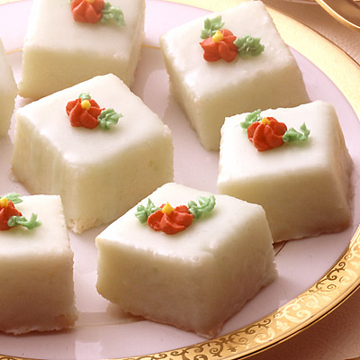 I'm hoping to find a local creator of beautiful petit fours since I certainly don't have time.