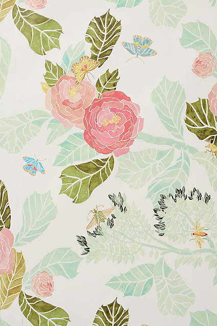 Anthropologie wallpaper.