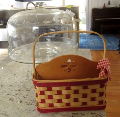 Not sure about the basket at the tea party but it is sweet.