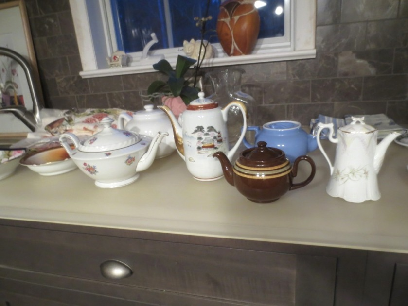 A lovely variety of teapots.