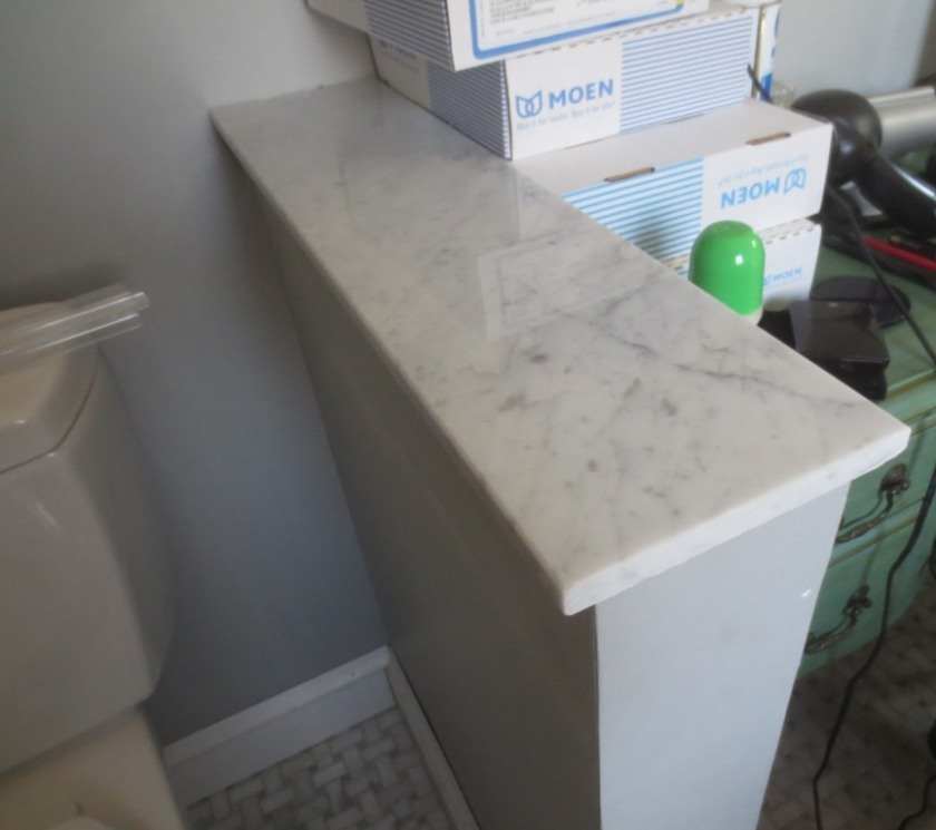 Sealed the marble sills in the master bathroom.