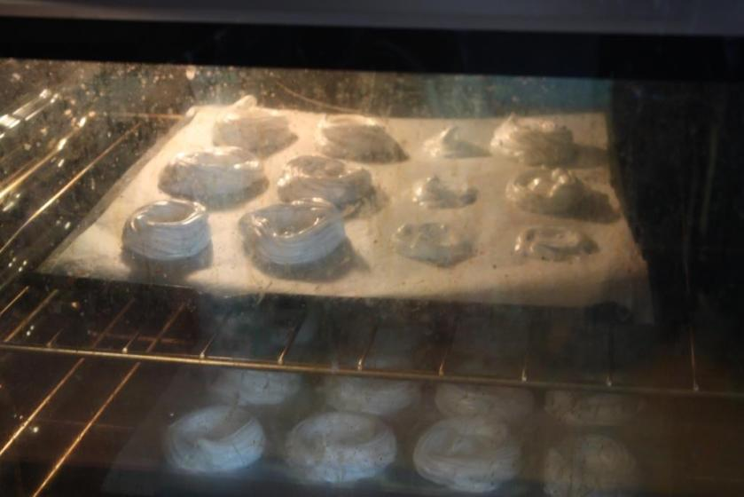 The time in the oven is more a drying time than cooking.