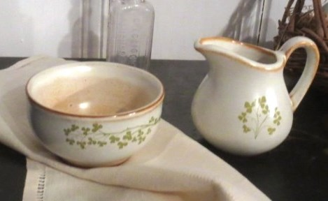 This small Irish bowl and pitcher are reminders of the humble service of Christ.
