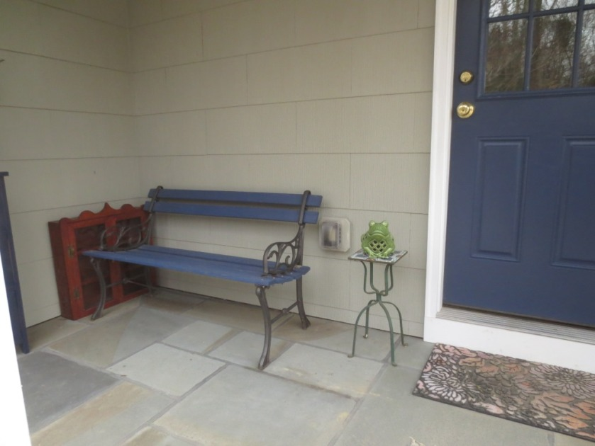 The side porch is our most-used entrance.