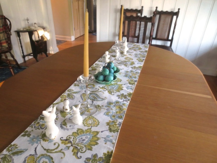 You might remember the table runner my sister sent me early in our renovation.