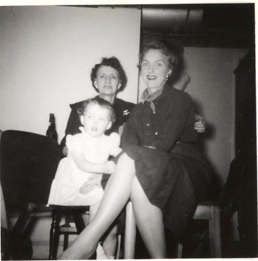 Still scanning photos -- left to right: me, grandmother, mother.