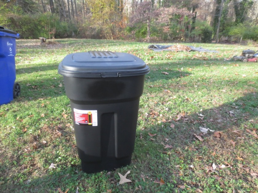 We have a fairly new trash can that can be used outside.