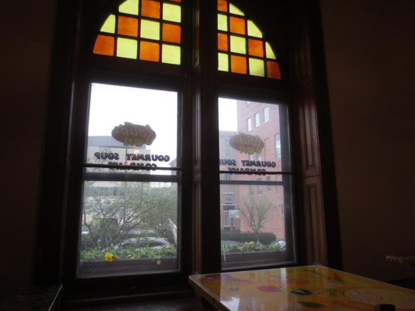 The 2-story windows overlook Preston Street.