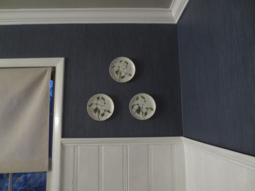 Plates in the dining room.