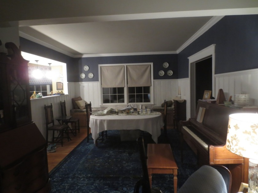 The dining room in 2016 opens up to new rooms on both sides