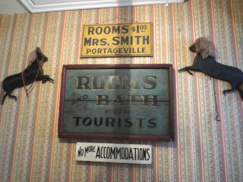 Signs at the Bed and Breakfast.