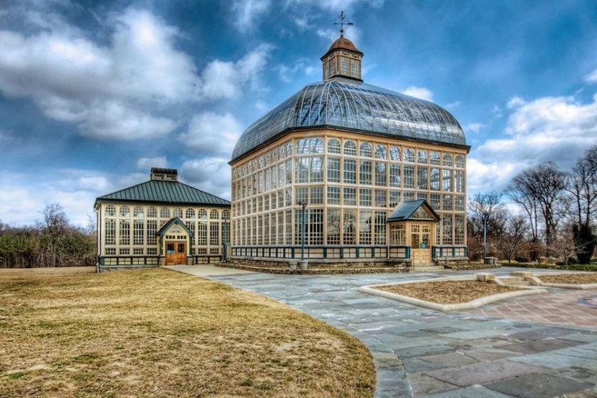 Baltimore's Victorian Botanical Garden structure.