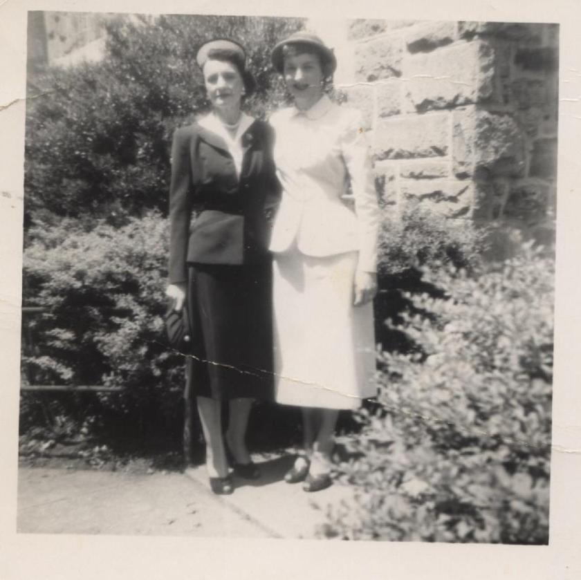My grandmother and mother back in the 1950s.