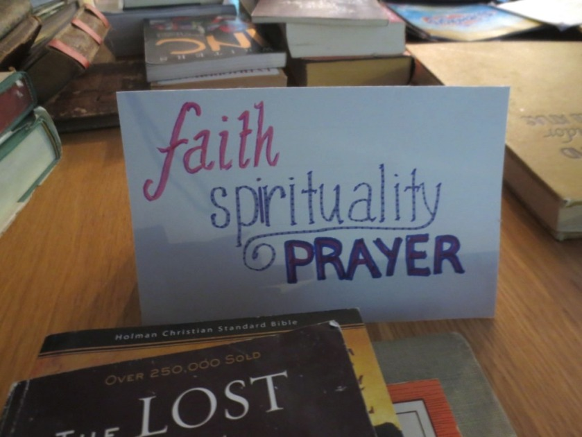 "I had to rewrite this label because I spelled ""spirituality"" wrong on the first try. (I missed an ""i"" and tied to sneak it in.)"
