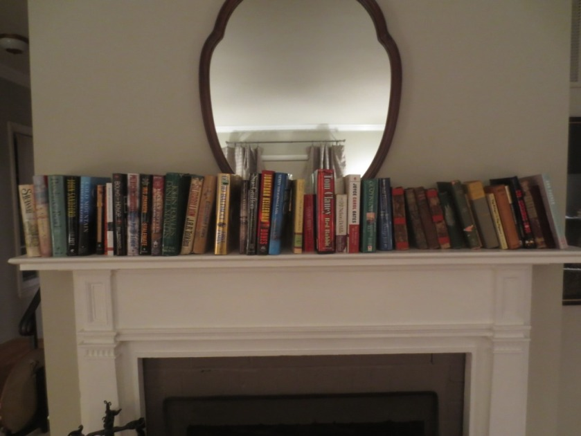 Recently the mantel was a bookshelf.
