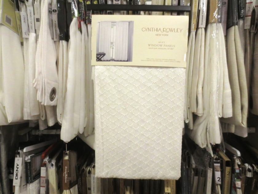 White eyelet panels at Home Goods.