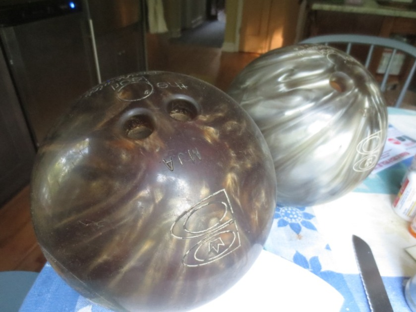 I found two bowling balls in the attic that I've been preserving for at least 30 years.
