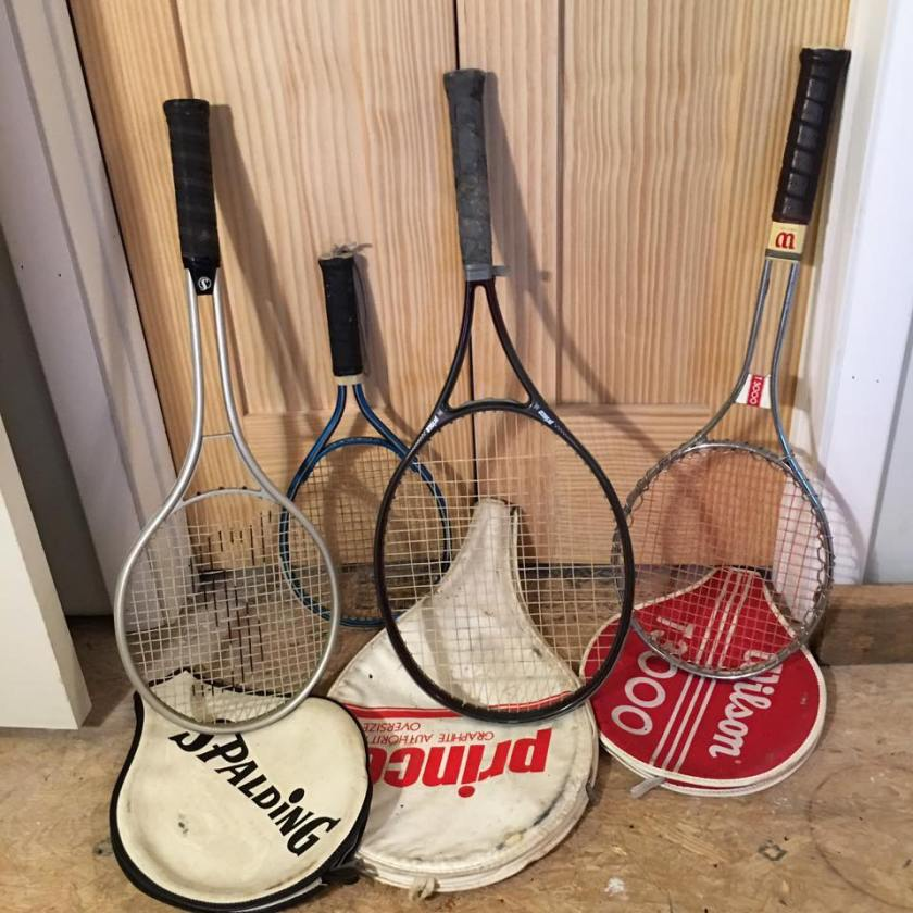 Tennis Racquets -- all for one price.