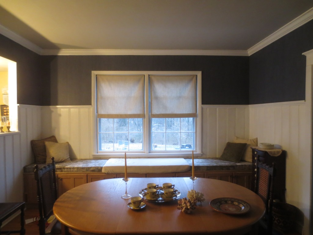 Faux Linen Shades For The French Doors Let S Face The Music