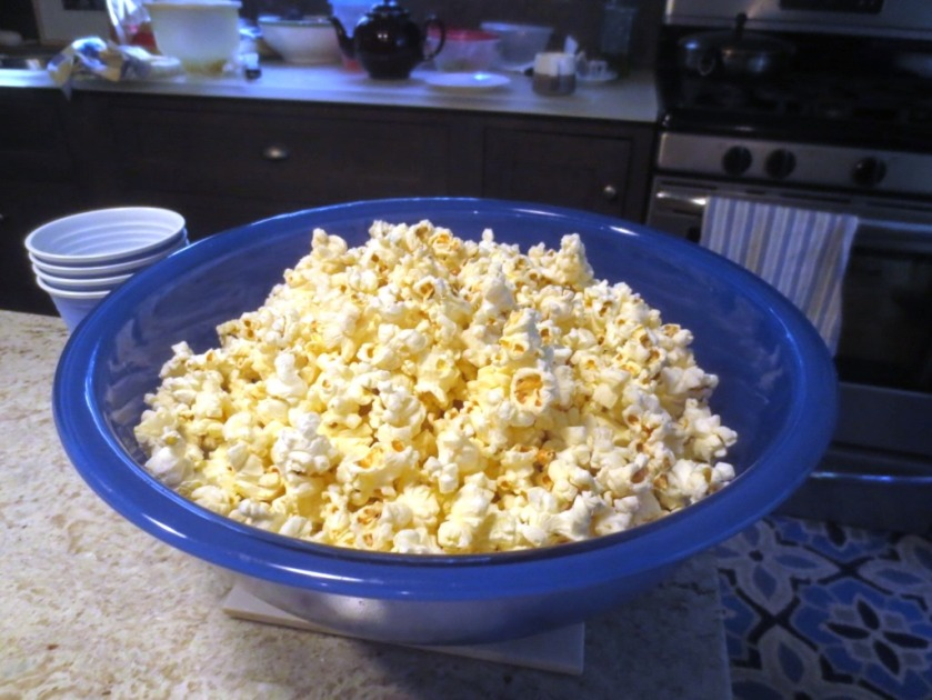 Air-popped popcorn. What's a movie without popcorn.?