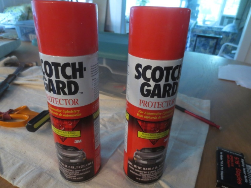 I had 2 cans of ScotchGuard on hand which should be protective.