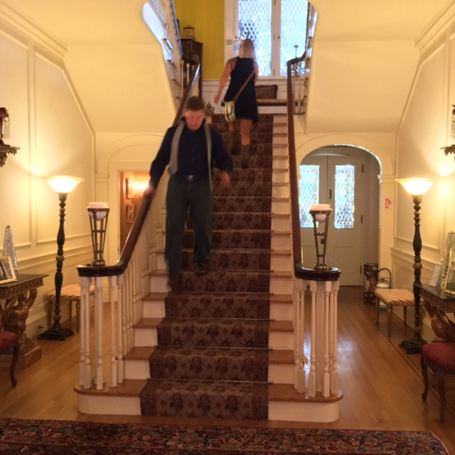 The central staircase was used for the wedding ceremony.