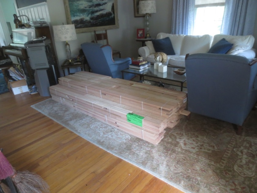 So tired of having lumber in the living room.