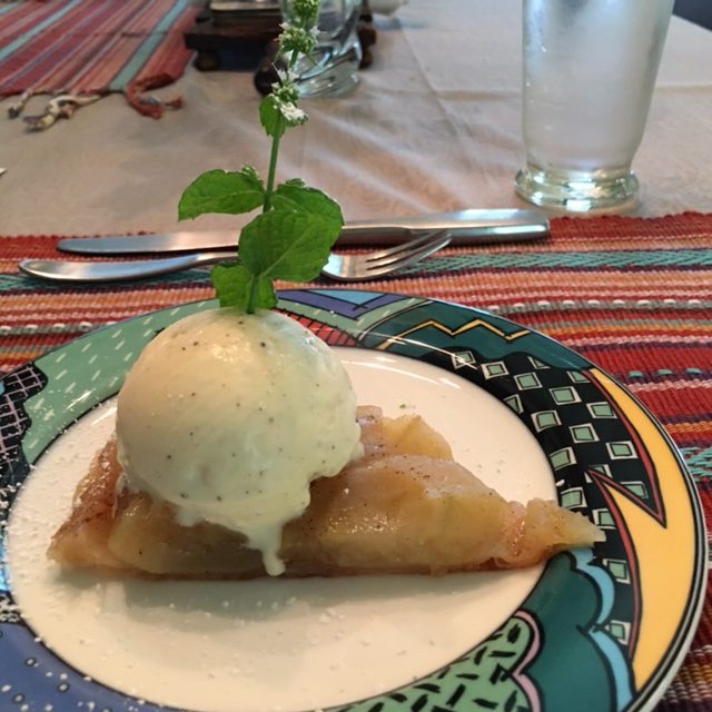 Dessert -- Hot upside down apple pie.