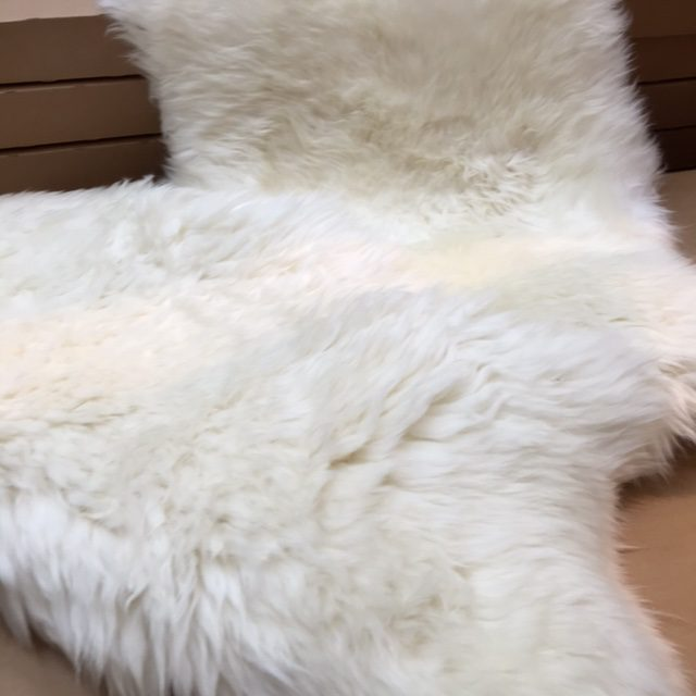 Sheepskins from Ikea.