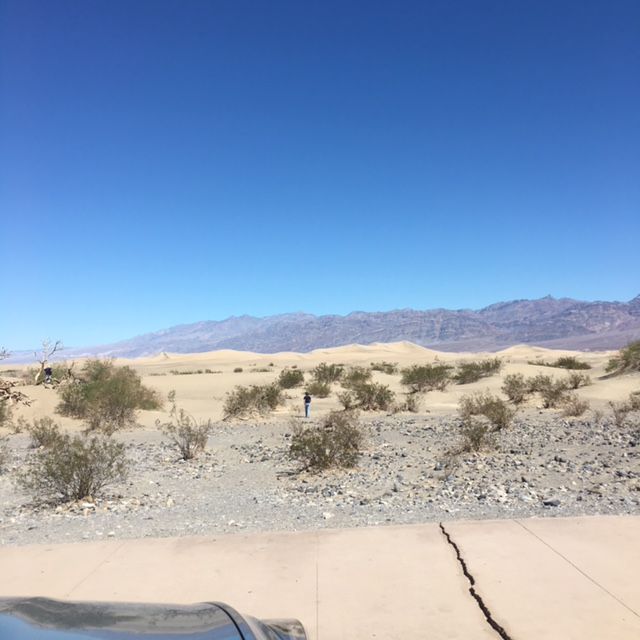 If you zoom the picture you can see Charlie in the desert of Death Valley.