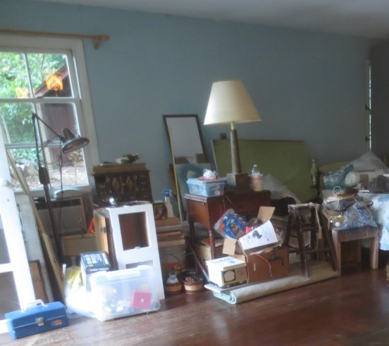 The pile of my stuff in the Cottage is diminishing.