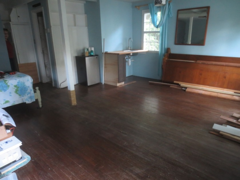 """The space in front of the """"kitchen"""" will be the living room sitting area."""