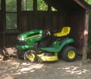 The Cottage dweller is planning to spend some time in the yard on the John Deere.