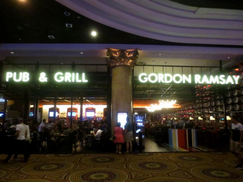 """Gordon Ramey's restaurant is called """"Pub and Grill""""."""