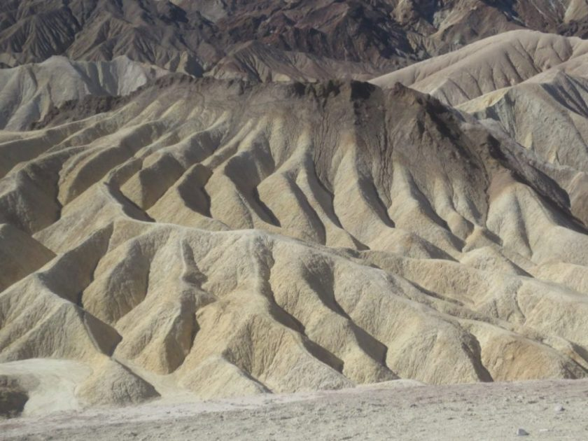 Borax mounds at Zabriski Point.