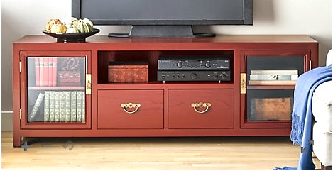 This red lacquered console can be had for $2,000 plus freight.