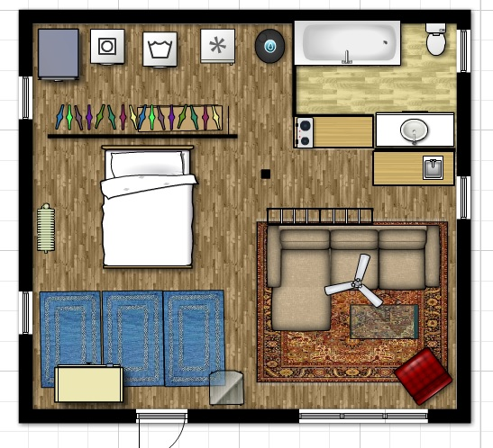 My floor plan of the Cottage is adjustable.