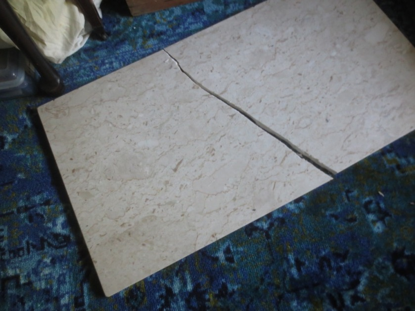 My broken marble coffee table top.