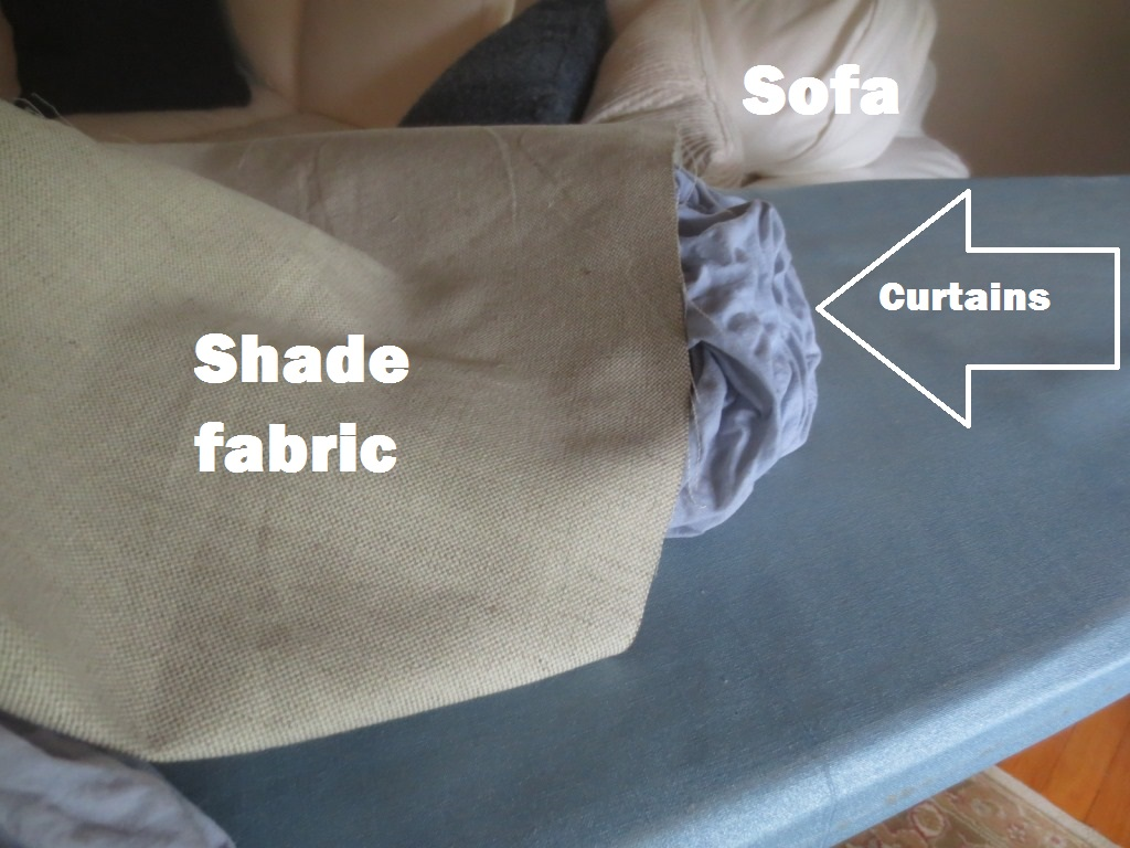 The Curtain Fabric Turned Out Very Blue After Dying With Coffee.