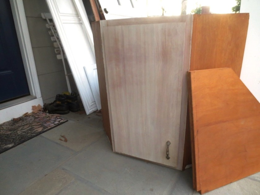 This vintage corner cabinet has been sold.