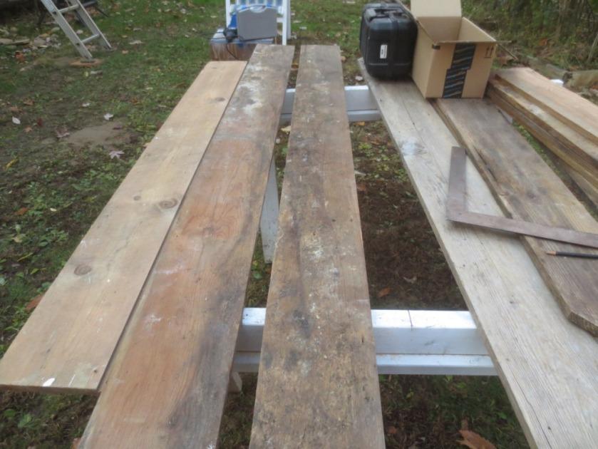 We have enough lumber to make shelves.