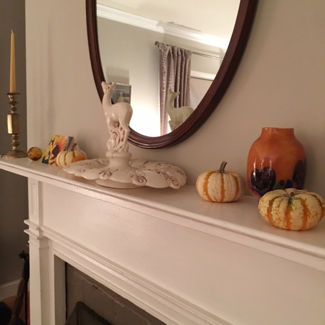 The mantel is not symmetrical just balanced.