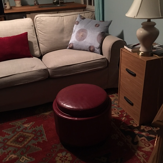 The little ottoman is a nice addition to the Cottage furniture.
